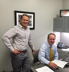 Kevin Belanger with Dr. Risinger